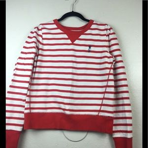 Juicy couture stripe crew neck sweater large